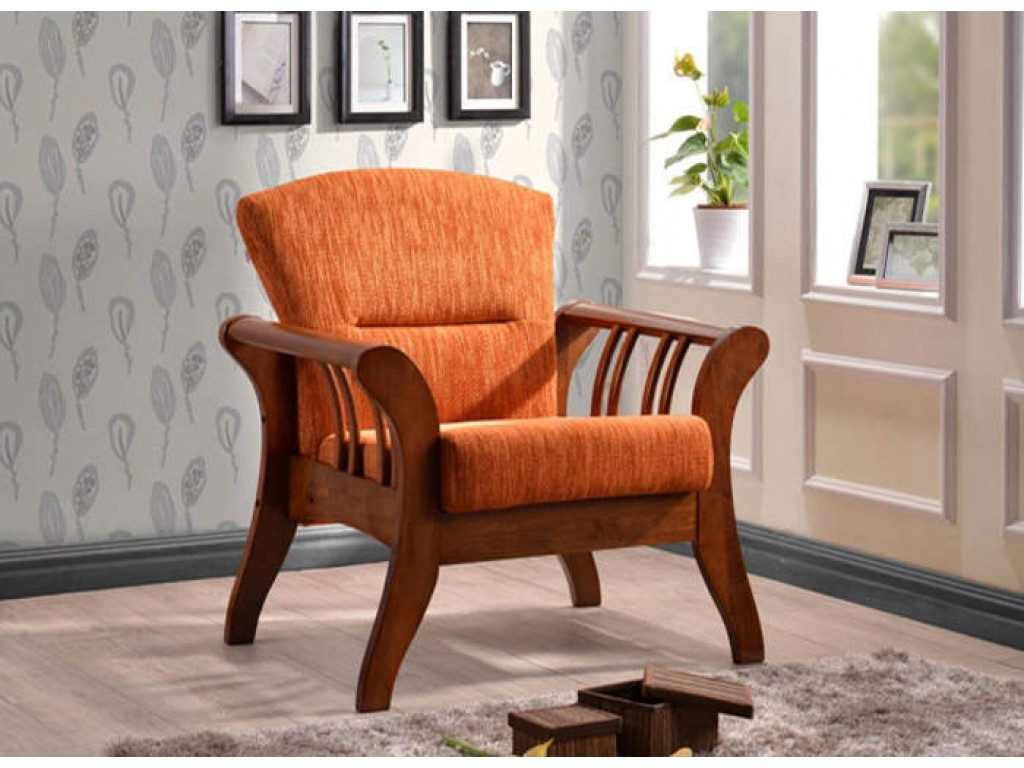 Кресло 1138 RB (AL Sonama Walnut/Aero B Orange)